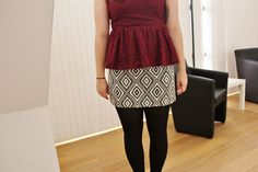 Bodacious Thought: Restyle // dress to peplum top