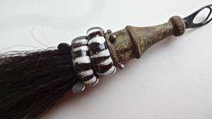 Tribal horse hair pendant