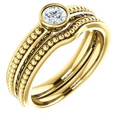 0.25 Ct Round Ring 14k Yellow Gold – Goldia.com