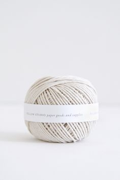 Natural white cotton ball of string or twine Jute, Cotton String, Cotton Thread, Shades Of White, White Aesthetic, Textiles, Pure White, White White, Snow White