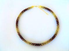 alzbetina / náhrdelník bordovo zlatý
