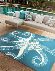 Yes - octopus rug                                                                                                                                                     More