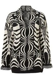 Knitted Deco Jacquard Cardigan