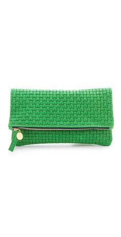 Clare Vivier #green #clutch