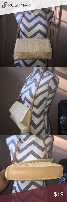"Etienne Aigner Shoulderbag Cream Colored Measures 12"" X 7"" X""2 shoulder-strap hangs  down 13"" from shoulder Etienne Aigner Bags Shoulder Bags"