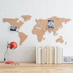 Corkboard Maps - these would be great in a kids' study area