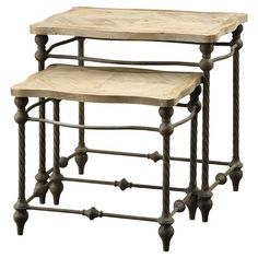 2 Piece Sienna Nesting Table Set at Joss & Main