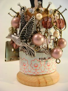 fun to make to hang jewelry off of ~ Cat Kerr