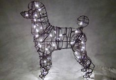 Poodle Lit Topiary
