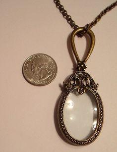 Antiqued Bronze Ornate Magnifying Glass Vintage by JENSTARDESIGNS, $27.00
