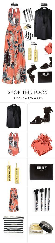 """Flower Print Maxi Skirt'"" by dianefantasy ❤ liked on Polyvore featuring Astraet, Raye, ADRIANA DEGREAS, Bobbi Brown Cosmetics, Givenchy, Torrid, 8 Oak Lane, polyvorecommunity, polyvoreeditorial and Packandgo"