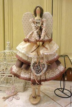Купить Кукла Тильда Кофейный винтаж - коричневый, кукла ручной работы, кукла Тильда