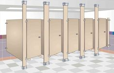 New Post hadrian bathroom stall hardware