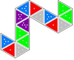 Blank And Decorated Hexahexaflexagon Template  Flexagon