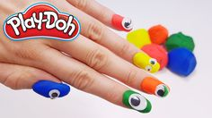 Finger Family Song Nursery Rhyme with colorful Play Doh Nails - learning colors for kids