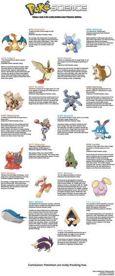 Some Pokemon facts