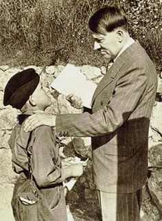 Hitler with a young boy