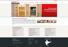 www.adamselevator.in -website of elevators and escalators manufacturing company. Designed & developed by Echo (www.ieecho.com)
