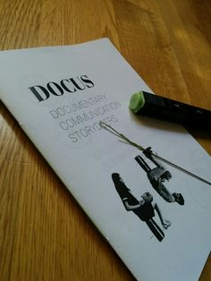 Sustainable brochure for Docus: paper inkjet printing, b/w and handmade binding