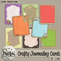 Crafty journaling cards