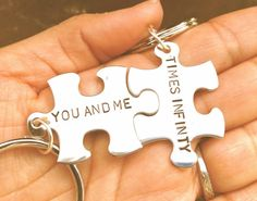 valentine gifts for him and her couples key chain by natashaaloha, $24.00