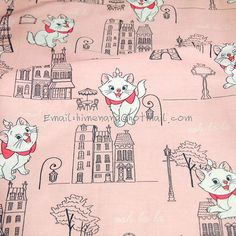 ac017  1 Yard Twill Cotton Fabric  Cartoon by nanafabricstore