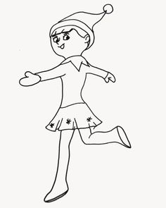 girl elf on the shelf coloring pages  you might also be