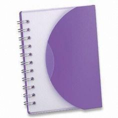 Notebook with PP Cover and 1C Printing, Measures 13 x 185cm