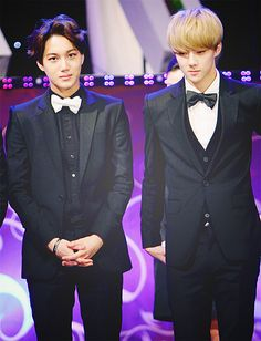 Kai & Sehun - Looking as dapper as can be in thier bowties <3<3