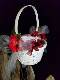 Check out this item in my Etsy shop https://www.etsy.com/listing/481527907/flower-girl-basket-wedding-day