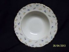 Syracuse Suzanne Federal Shape Floral Flowers Rimmed Soup Bowl USA Vintage Mint