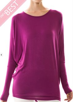 Solid Dolman Tunic Top