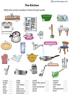 Lots of worksheets for common objects/ categories (colors, shapes, kitchen, bathroom)