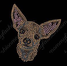 Chihuahua pet Dog Cute Rhinestone Transfer door FashionMommyBoutique, $12.00