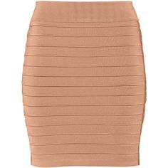 Balmain Ribbed stretch-knit mini skirt ($1,175) ❤ liked on Polyvore featuring skirts, mini skirts, brown, stretch knit skirt, brown skirt, rose skirt, balmain and short brown skirt