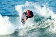 Surfing dog Sugar gets her own replay in the US Open of Surfing 2014 her owner Ryan Rustan