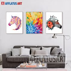 AFFLATUS Nordic Abstract Fashion Color Horse Canvas Painting For Kids Room Wall Picture Watercolor Art Print Poster Home  Decor #Affiliate