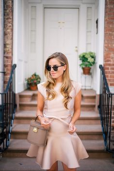 Gal Meets Glam The Bow Detail -Paule Ka dress, Mark Cross bag, Ray Ban sunglasses & Gianvito Rossi heels
