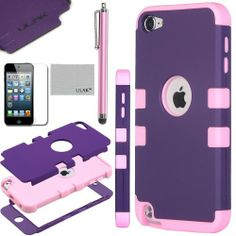 Pandamimi ULAK(TM) Hybrid 3 Layer Hard Case Cover with Silicone Shell Inside Case for Apple iPod Touch Generation 5 + Stylus + Screen Protector (Purple & Pink), http://www.amazon.com/dp/B00GTDW23A/ref=cm_sw_r_pi_awdm_-YSVtb0JN59GD