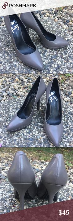 "Nine West Grey Pumps NO TRADES. Nine West. Grey pumps. Love fury. Leather outer. BRAND NEW - NEVER WORN OUTSIDE. 4"" heel. 0.5"" platform. Size 8.5. Nine West Shoes Heels"