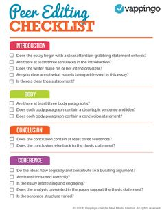 A free printable peer editing checklist. Everything you need to do to nail the peer editing process. Best Essay Writing Service, Essay Writing Skills, Paper Writing Service, Dissertation Writing, Essay Writer, Editing Writing, Academic Writing, Teaching Writing, Writing Paper