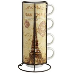 Paris Stacking Mug Set | Pier 1 Imports