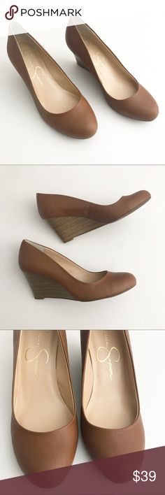 """Brand new! Jessica Simpson Tan wedges Brand New!  Comes with original box. 3"""" heel Jessica Simpson Shoes Wedges"""