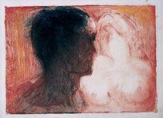 Edvard Munch - Lovers, 1913