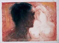 Edvard Munch - Lovers, 1913