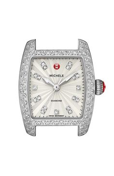 MICHELE 'Urban Petite Diamond' Diamond Dial Watch Case, 21mm x 22mm (Limited Edition) available at #Nordstrom