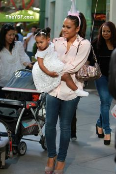 @christinamilian & baby Cute brunch outfit