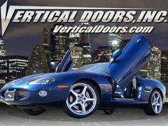 "Jaguar with ""Bolt-On"" Lambo door conversion kit by Vertical Doors, Inc. Corona, CA"