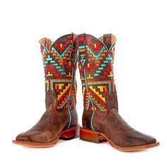 Johnny Ringo Ladies Multicolored Aztec Western Boot JR922-39C