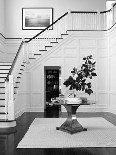 My Foyer Staircase Makeover Reveal Foyer Staircase, Staircase Makeover, Entrance Foyer, Entry Hallway, Grand Entrance, Open Entryway, Entryway Ideas, White Staircase, Staircase Design